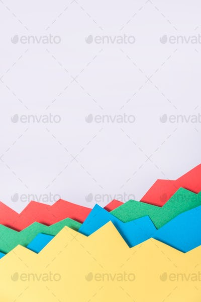 Business graphics isolated