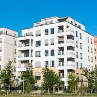 Modern white apartment houses