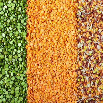 Green Split Peas, Lentils And Rice
