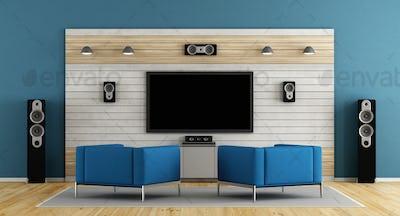 Blue home cinema
