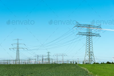 Relay station and transmission towers