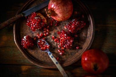 Ripe juicy pomegranates
