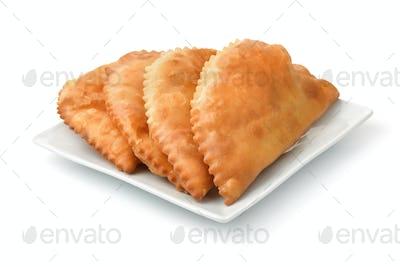 Chebureki on the plate