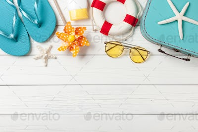 Summer vacation beach accessories