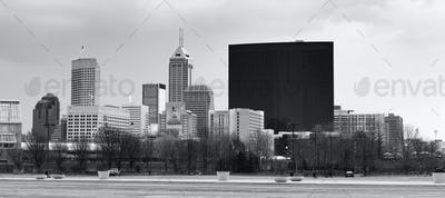 Downtown City Skyline Indianapolis Indianna USA
