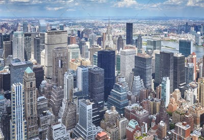 Aerial picture of Manhattan, New York City, USA
