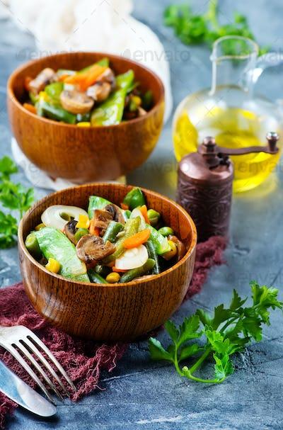 fried mix vegetables