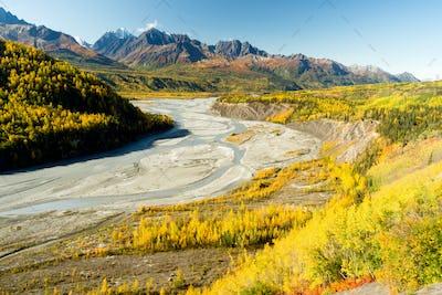 Mantanuska River Cucagh Mountain Range Alaska North America