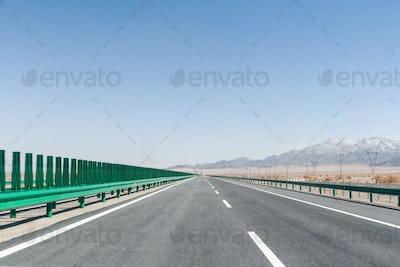 highway on gobi desert