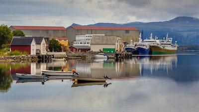 Small harbor Local economy concept