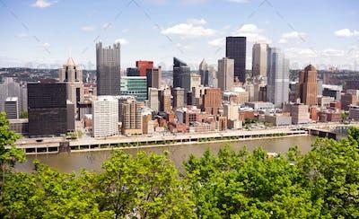 Pittsburgh Pennsylvania Downtown City Skyline