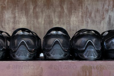 Paintball extreme sport protective equipment masks