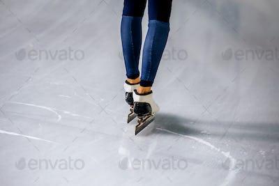 Feet of Woman Speed Skater