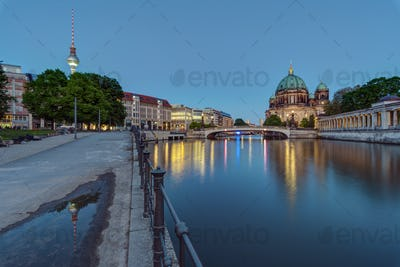 The Berlin Cathedral and the TV Tower