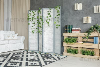 Room with room divider