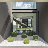 Modern niche with big window