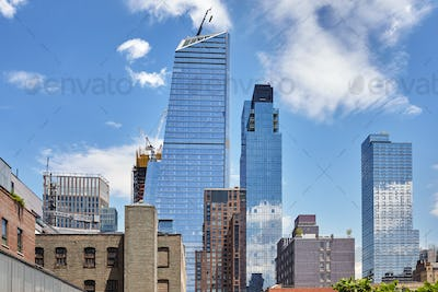 Modern and old buildings in Manhattan, New York, USA.