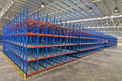 Storage racking pallet system for warehouse metal shelving distribution centre