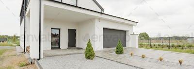 Big house with car garage