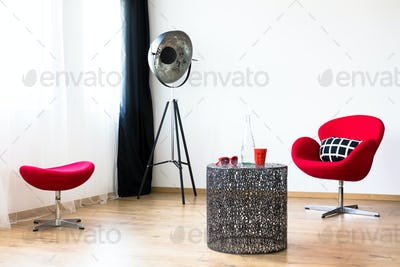 Red furniture set