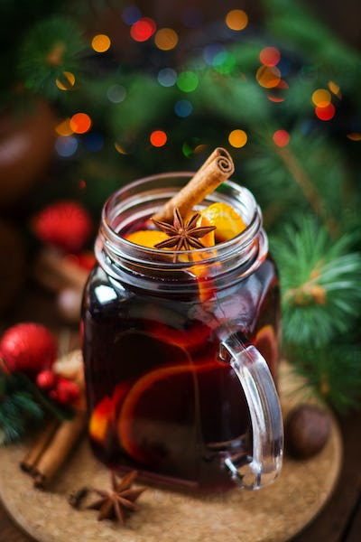 Christmas mulled wine and spices.