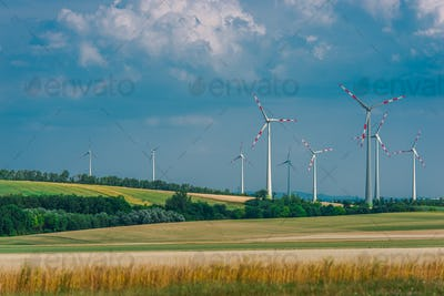Countryside with Wind Turbines