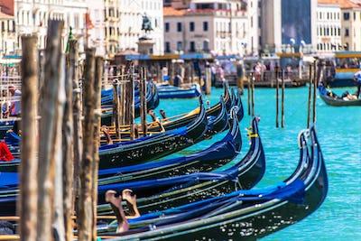 Venetian Gondolas Venice Italy