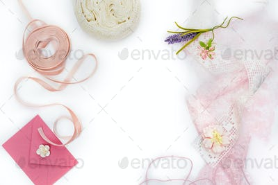 set of scrapbooking materials