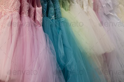 Collection of party dresses