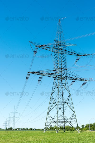 Electric pylons and transmission lines