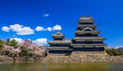 Matsumoto castle in spring season, Nagano, Japan