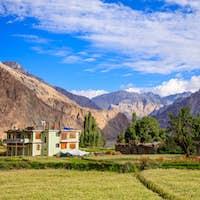 Turtuk village, Diskit, Jammu and Kashmir, India