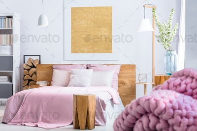Wooden and pink style
