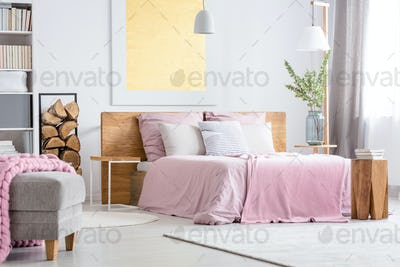 Big wooden bed