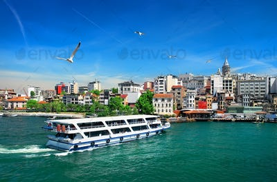 Cityscape with Galata Tower
