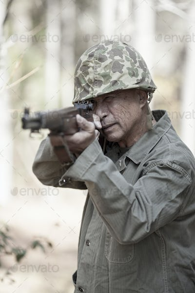 world war two soldier with rifle