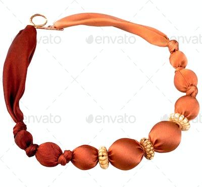 red batik silk beads