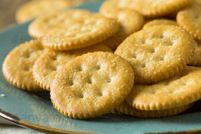Round Salty Yellow Crackers