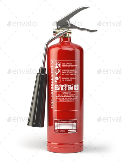 Fire extinguisher isolated on white background.