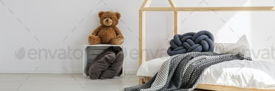 Minimalist interior of kid's bedroom