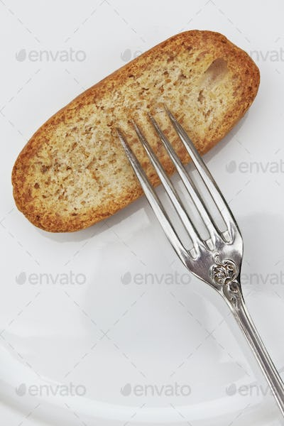 Fork and bread