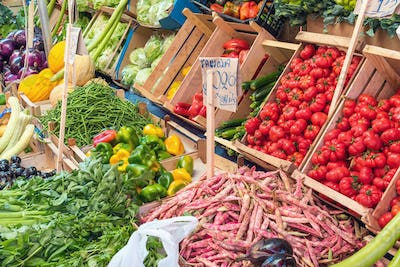 Choice of vegetables for sale in Palermo