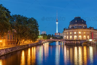 Bode Museum and Television Tower in Berlin