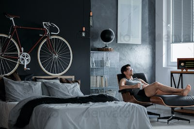 Bike above the bed