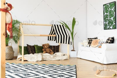 Wooden bed for kids