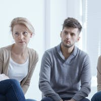 Support group listening to member