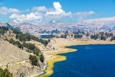 Dramatic Lake Titicaca Landscape