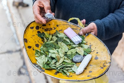 Coca Leaves in Potosi