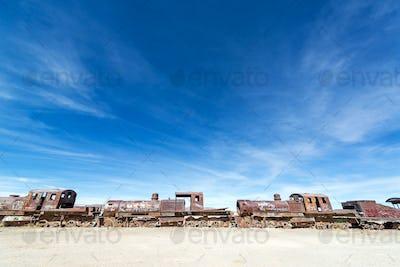 Abandoned Train Engines
