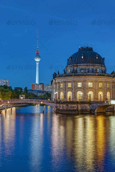 Television Tower and Bode Museum in Berlin